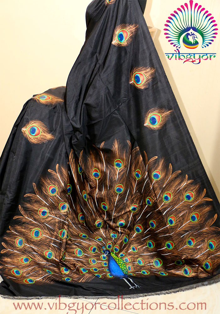 Peacock designs for painting on sarees www imgkid com the image kid has it
