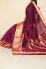 CHANDERI HANDWOVEN SAREE WITH THICK ZARI BORDER