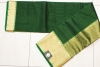 CHANDERI SAREE IN GREEN WITH THICK BORDER