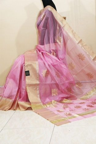 ELEGANT CHANDERI HANDWOVEN SAREE