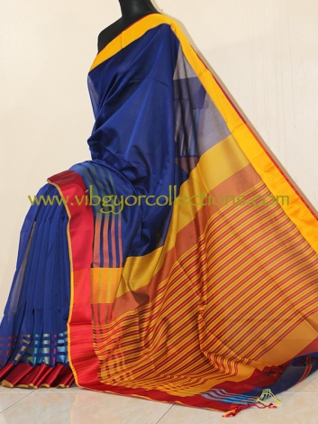 MAHESHWARI HANDWOVEN SILK COTTON SAREE