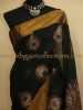 SWARNAMAYOORAM - The Golden Peacock Painting on Silk Cotton Saree