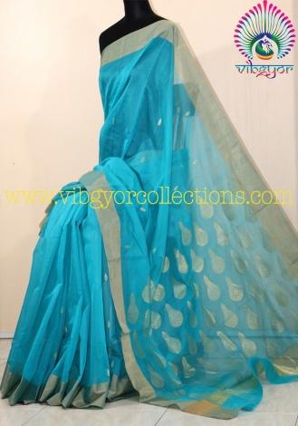 LOVELY CHANDERI HANDWOVEN SAREE