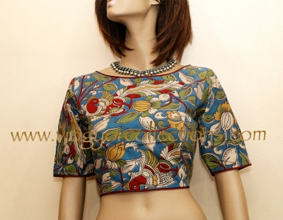 PRINTED KALAMKARI COTTON BLOUSE