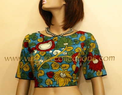 PEN KALAMKARI COTTON BLOUSE