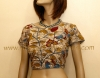 PRINTED KALAMKARI COTTON BLOUSE- SHORT SLEEVE