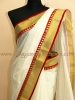 KERALA KASAVU SAREE WITH A DESIGNER TOUCH