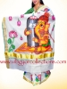 GANESHA - Hand painted kerala Cotton Kasavu Saree