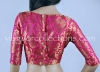 Readymade Rani Pink Brocade Blouse with Floral Motifs